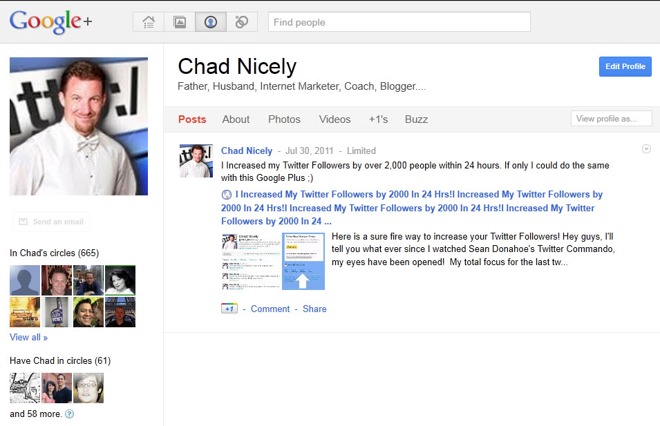 Google Plus Google Plus   From 700 viewers to 2000 to a site overnight!