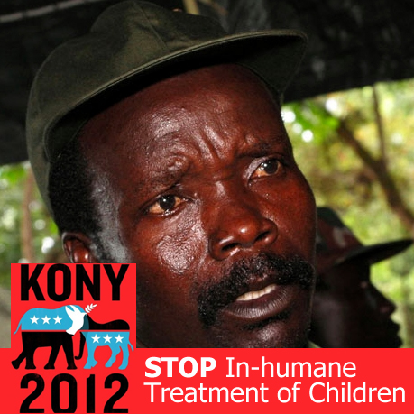 Pictured: Joseph Kony - Inhumane Treatment of Children